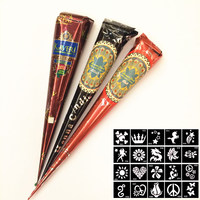 3Color High Quality Body Art Paint Natural Indian Tattoo Henna Paste For Body Drawing Black Brown