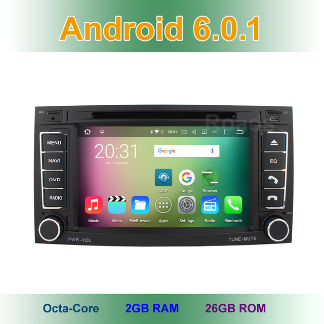 8 core Android 6.0.1 Car DVD Player for VW T5 Transporter Multivan Touareg 2004-2011 GPS System with wifi Bluetooth Stereo Radio