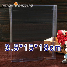 10 teile/los Klaren box pvc box/baby schuhkarton/verpackung box3.5 * 15*18 cm Spot produkt/datei container/klar boxen