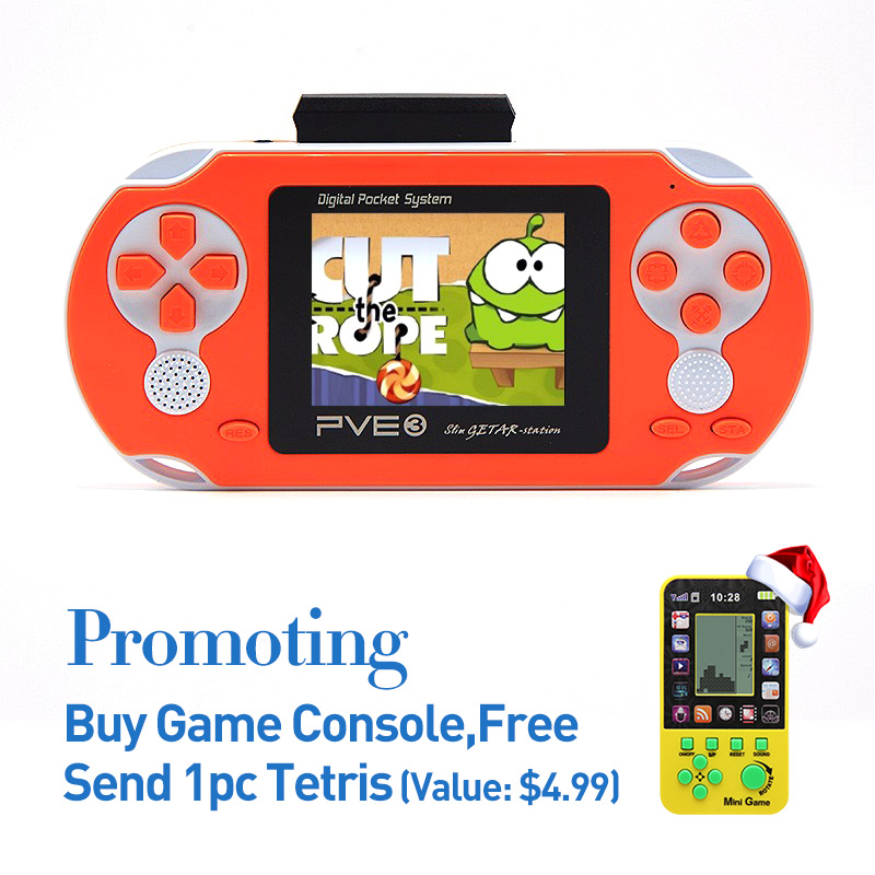 FreeShipping 2.5 Inch Retro Handheld Game konsol Built-in ACT / FTG / SPG / STG / RAC 8-16Bit Game Portable Video Game Console PVE