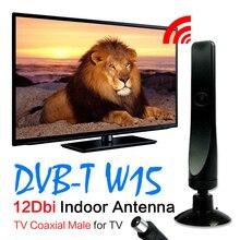 Vente chaude + Numérique TV Antenne Tnt 12dBi 3 M 10Ft Câble Antenne DVB-T TV HDTV Intérieur