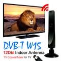 TD venda Quente + Antena de TV Digital Freeview 12dBi 3 M 10Ft Cabo de Antena Para DVB-T TV HDTV Interior