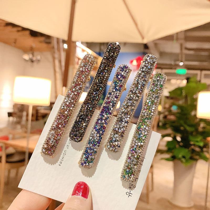 6 Color Bridal Hair Pin Crysta Hair Clip Hairpin Wedding Hair Accessories Jewelry Tiara RYFJE