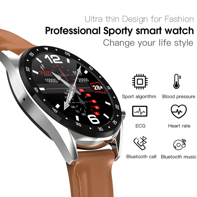 Greentiger L7 Bluetooth Smart Watch Men ECG+PPG HRV Heart Rate Blood Pressure Monitor IP68 Waterproof Smart Bracelet Android IOS