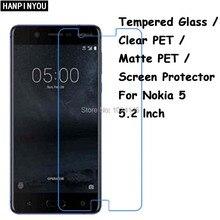 Закаленное Стекло/clear pet/матовая ПЭТ-Экран протектор Защитная Плёнки для Nokia 5 2017 телефона Android nokia5 5.2″