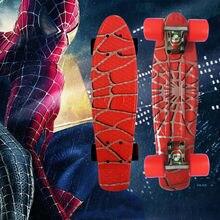 Girl skateboard longboard sale 22″ Spider-Man Mini skate trucks deskorolka professional fish skateboard plastic complete