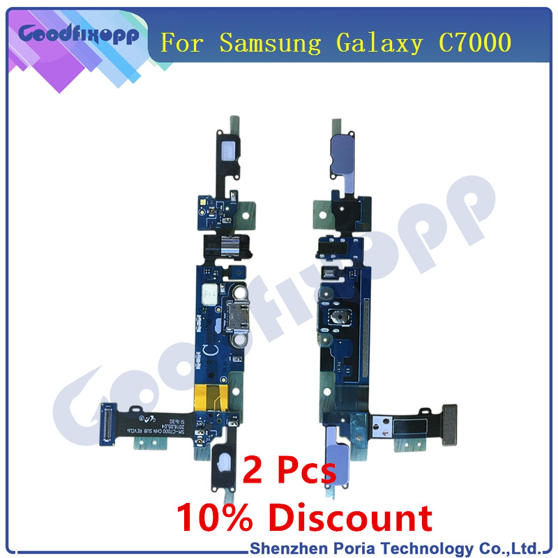 new original for samsung galaxy c7000 micro usb charging port sensor headphone  jack dock connector flex