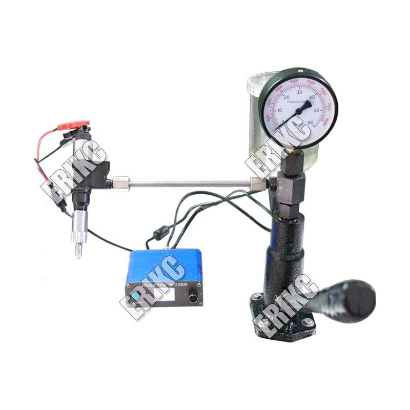 Комбинации! ERIKC Многофункциональный дизель Common Rail тестер + S60H сопла валидатор, Common Rail инжектор тестер инструмент