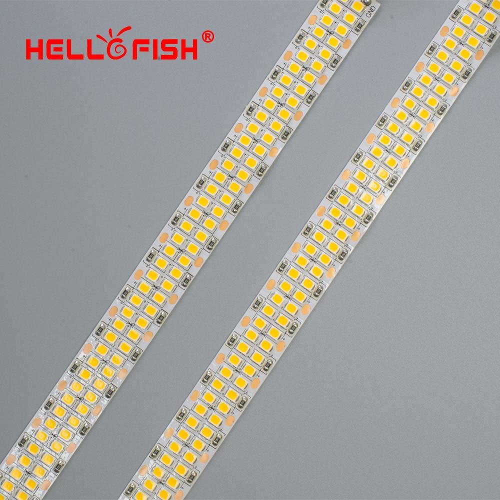 24 v tira conduzida 2835 smd 1200 2400 leds fita de diodo flexível pcb luz 12 v led backlight tira fita led branco quente