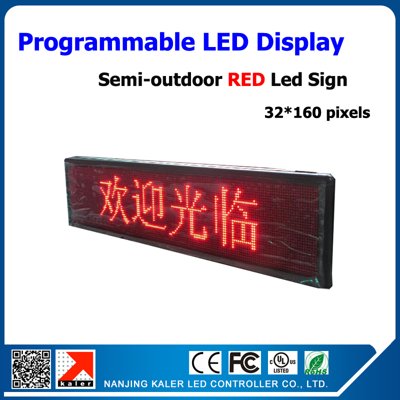 TEEHO Semi-outdoor advertising led screen 40*168cm led sign p10 led display panel programand scrolling message led display boardTEEHO Semi-outdoor advertising led screen 40*168cm led sign p10 led display panel programand scrolling message led display board