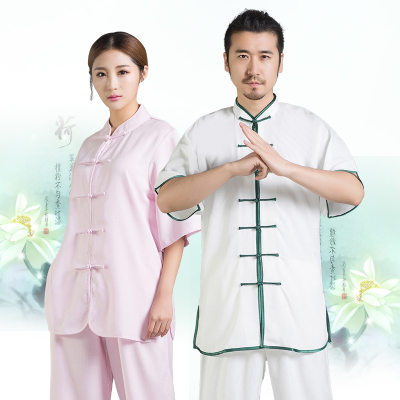 Tai Chi Linen Uniforms Kungfu  Clothes 8 Colors  Sold As A Set Long Sleeve And Short Sleeve Free Shipping