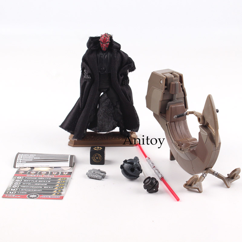 Star Wars Darth Maul With Sith Speeder PVC Action Figure Collectible Model Toy