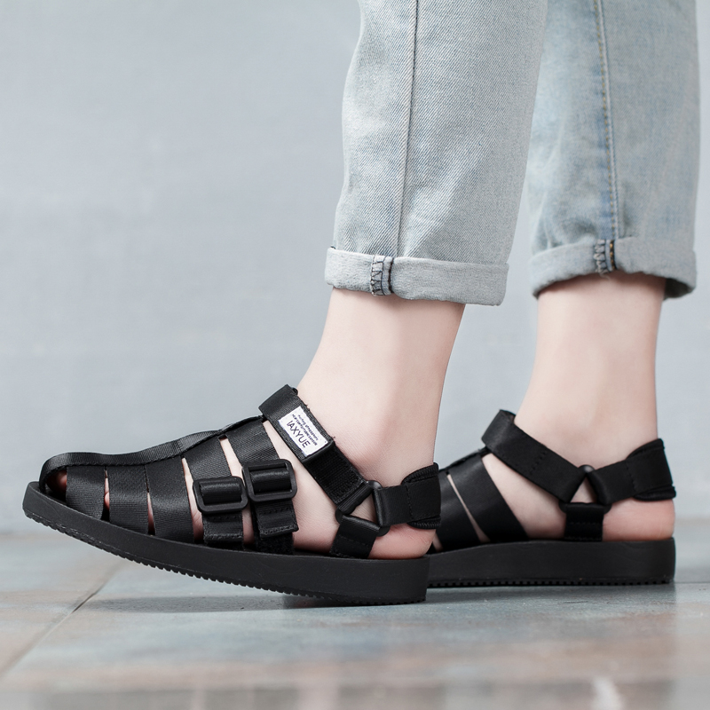 Women Casual Sandals Plus Size 35-43 Unisex Sandals Rome Style All Match Concise Flat Heel Hook Loop Summer Shoes Solid Color стоимость