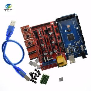 Image 5 - Mega 2560 R3 para Arduino + 1 Uds., controlador 1,4 + 5 uds. Módulo controlador A4988 paso a paso, kit de impresora 3D Reprap MendelPrusa