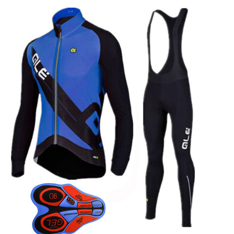 ALE 2018 winter hot fleece clothes riding jersey sports bib pants mountain bike riding suit Ropa maillot ciclismo high quality
