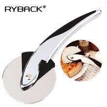 RYBACK Stainless Steel Shark Shape Pizza Wheel Cutter Handle Slicer Knife Pizza Knife Pastry Pasta Dough