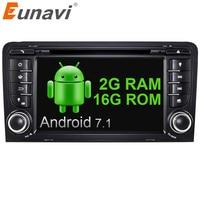 Eunavi 2 Din Android 7 1 Quad Core Car Dvd Player Radio Gps Automotivo For AUDI