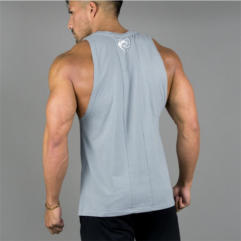 ALPHALETE Mens Bodybuilding   Tank     Tops   Gyms Fitness Workout Cotton Sleeveless Vest Male Casual Fashion   Tank     Tops