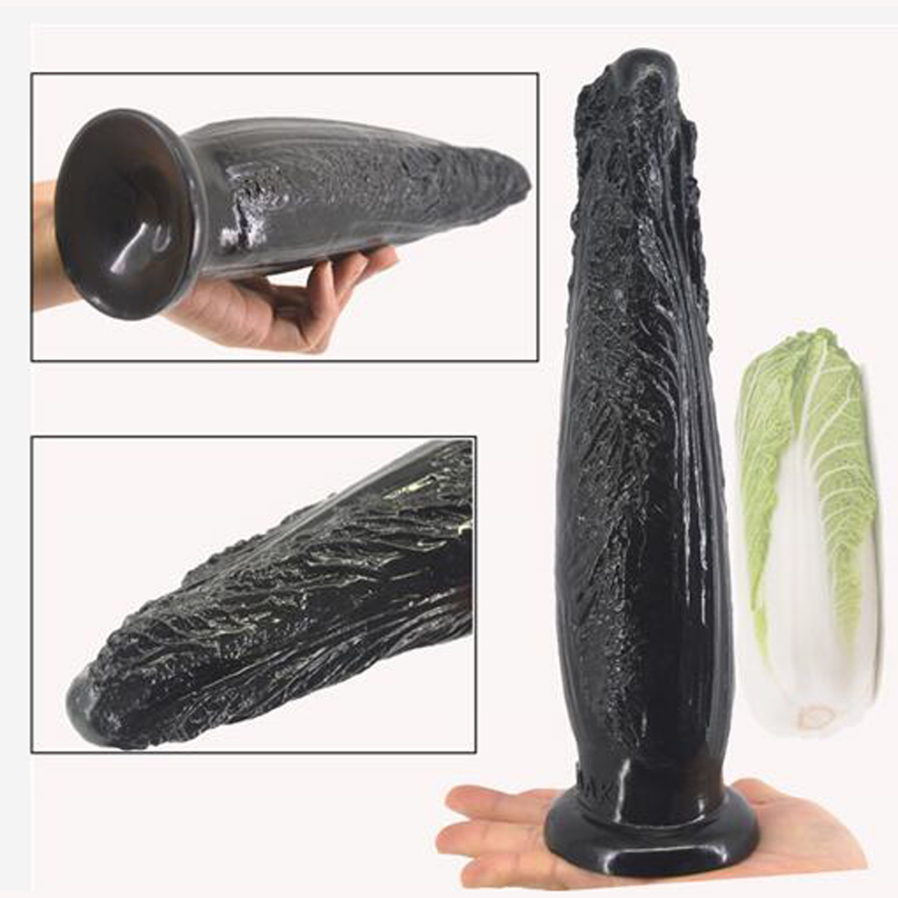 где купить FAAK Long anal dildo butt plug suction cup Chinese Cabbage design dildo sex products anal plug penis sex toys women man sex shop дешево