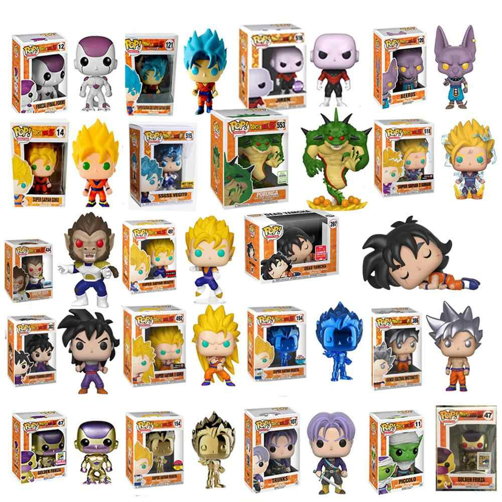 Funko Pop Porunga De Dragon Ball Super Saiyan Goku Frieza de Ouro Grande Vegeta Action Figure Brinquedos Colecionáveis