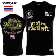 VSZAP тайский Лотос боевой вещания ask Свободный Топ без рукавов Футболка спортивная wulin wind tiger MMA фитнес