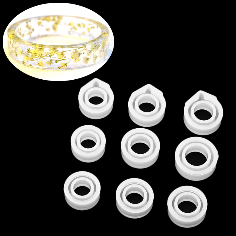 Silicone Ring Mould Handmade Decoration Jewellery Rings Craft Circle Design Resin Casting Mold Making Tools Equipments @