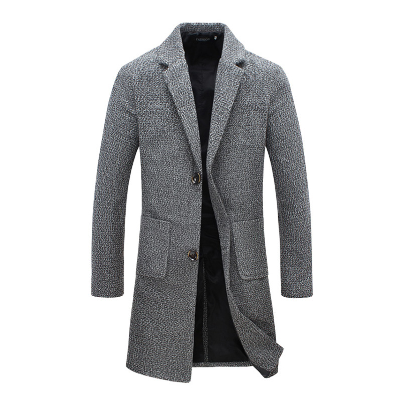 New Fashion Designer Long Mens Coat Mens Trench Coat Autumn Winter Windproof Slim Trench Coat Men Plus Size Jm6
