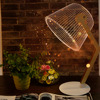 ICOCO 3D Creative Vision Lamp USB Charge Luminous Lampshades LED Table Lamp Bending Small Straight Type