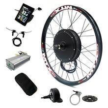 Цветной дисплей bicicleta Электрический велосипед конверсионный комплект 52 в 2000 Вт задний мотор колеса велосипеда комплект с батареей 52 в 17.5Ah