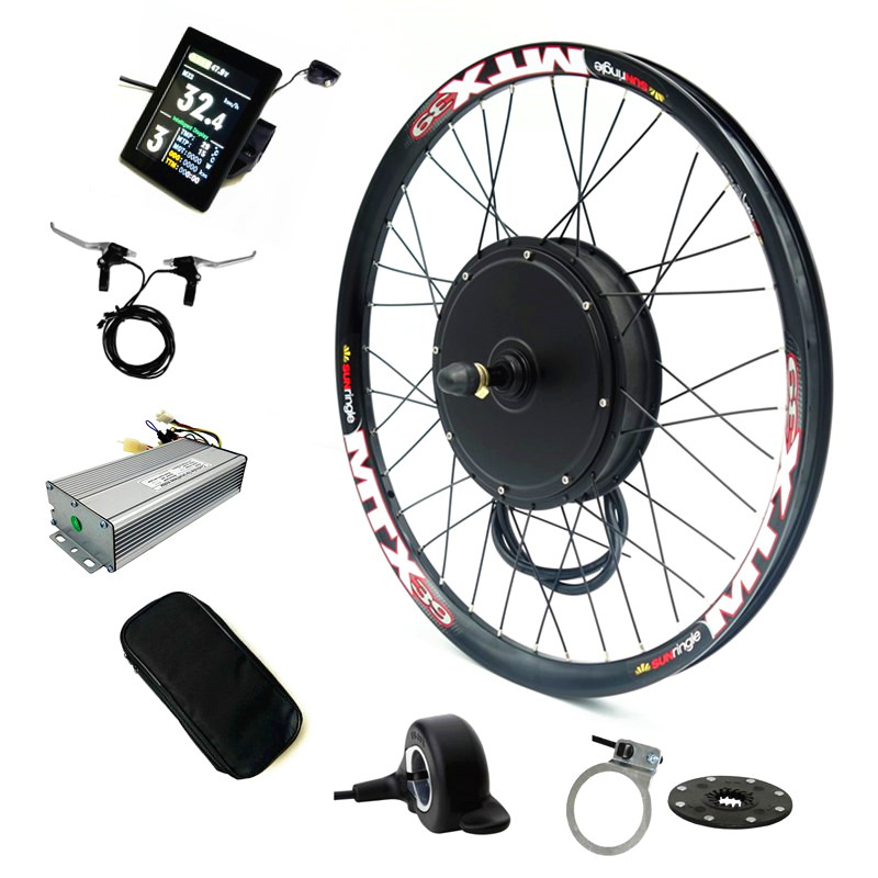 Color Display bicicleta electrica Electric <font><b>Bike</b></font> Conversion Kit 52v <font><b>2000W</b></font> Rear <font><b>Motor</b></font> wheel Bicycle Kit with 52v 17Ah Battery image