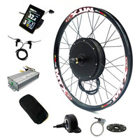 Color Display bicicleta electrica Electric Bike Conversion Kit 52v 2000W Rear Motor wheel Bicycle Kit with 52v 17Ah Battery