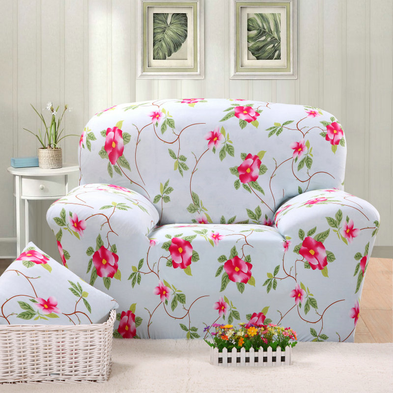 2017 Flower Printed All Inclusive Full Sofa Cover Slip Stretch Fabric Elastic In From Home Garden On Aliexpress