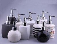 Bathroom Home Decoration Accessories ,Ceramic Emulsion Dispensing Bottle Portable ,Hotel Club Hand Shower Gel Shampoo Bottle