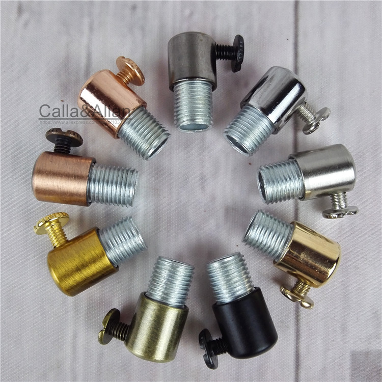 Free shipping 4/10/20/50pcs Metal grips for cable lock 15mm tube Cord cable wire grips M6 ceiling plate connect for pendant lamp my apartment