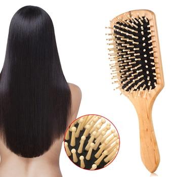 Massage Comb Paddle Brush Antistatic Combanti-static Natural Wooden Massage Hairbrush Comb Scalp Health Care Paddle Brush 5