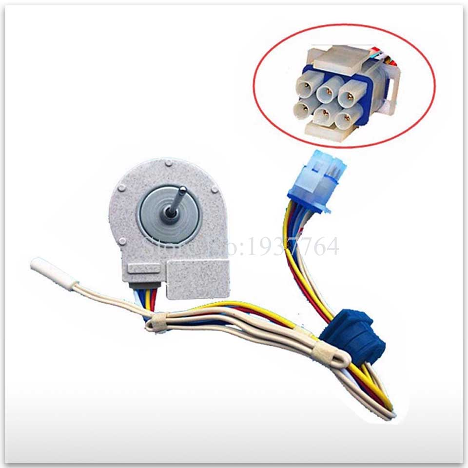 2pcs/lot new refrigerator freezer Double open the door Fan motor for FDQT26GE8 9.7V 2pcs lot for samsung double door refrigerator defrosting temperature sensor 5k defrosting insurance