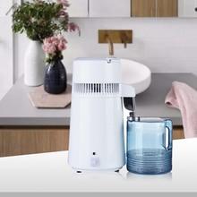 Máquina de filtro de destilación de agua pura para el hogar, 4L, equipo de purificador de destilación destilada de agua Dental, jarra de plástico de acero inoxidable