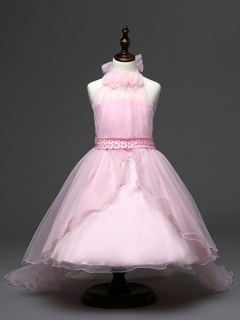 Flower Baby Girl Dress Purple prom gown Dresses For Girls Kids ... 4d27dc654fc1