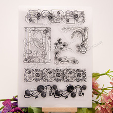 Flower Vine Transparent Clear Silicone Stamp/Seal For DIY Scrapbooking/Photo Album Decorative Clear Stamp Sheets A415