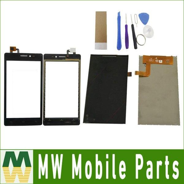 Für Prestigio Wize C3 PSP3503 DUO PSP3505 PSP3509 PSP3519 Lcd Display + Touch Screen Schwarz Farbe mit werkzeuge + band