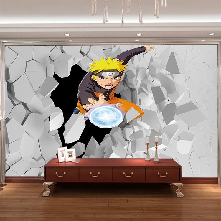 Japanese anime wall mural 3d naruto photo wallpaper boys for Wallpaper home cartoon