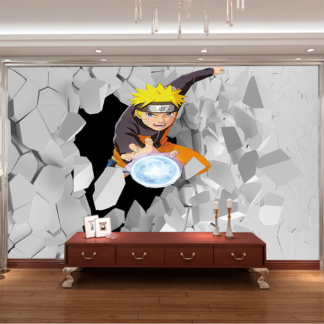 Buy japanese anime wall mural 3d naruto for Mural naruto