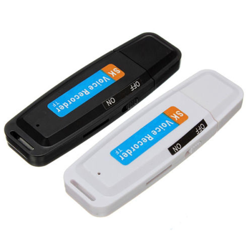 U-Disk Digital Audio Voice Recorder Pen USB Flash Drive up to 32GB Micro SD TF Card Mini USB Digital Pen White Black