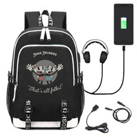 New Game Cuphead Laptop Backpack School Bags Bookbag USB Charge Interface Shoulder Travel Bag Work Leisure Bags Gift