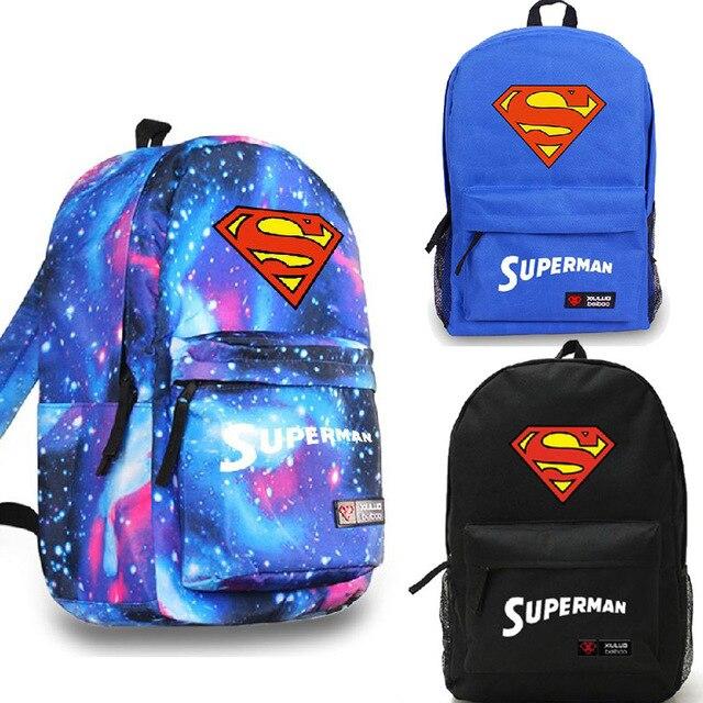 0cb300f622 Superman Man of Steel Galaxy Backpack Rucksack School canvas Bags on ...