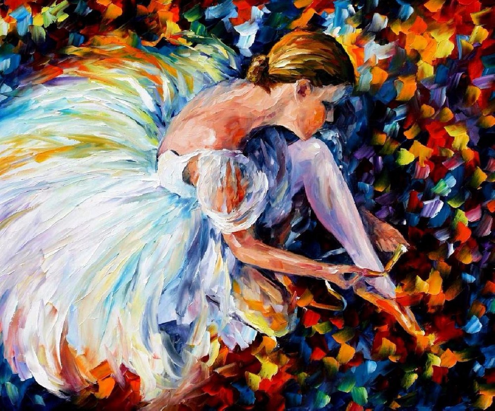 Online buy wholesale abstract ballerina oil painting from for Selling oil paintings online