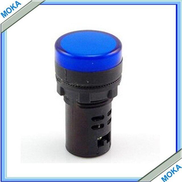 Free Shipping Blue 22mm LED Indicator Pilot Lights 12v 24V 220v 380v Electrical Control