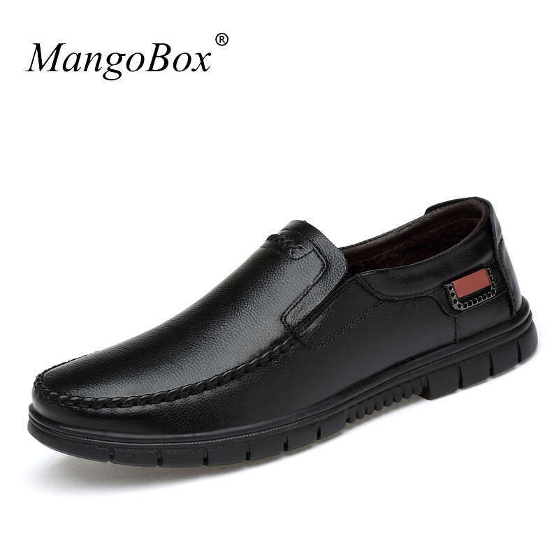 MangoBox 2018 Luxury Brand Men Casual Shoes Hot Men Flats Sneakers Winter Inside Fashion Shoes for Male Genuine Leather Shoes cbjsho brand men shoes 2017 new genuine leather moccasins comfortable men loafers luxury men s flats men casual shoes