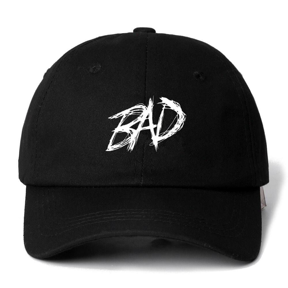 Dropshipping XXXTENTACION BAD Snapback   Cap   Cotton   Baseball     Cap   For Men Women Adjustable Hip Hop Dad Hat Bone Garros