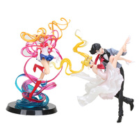 Anime Sailor Moon figure Sailor Moon & Chiba Mamoru masquerade masked ball PVC Action Figure Sailor Moon Toy Doll